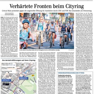 """""""Verhärtete Fronten beim Cityring"""""""