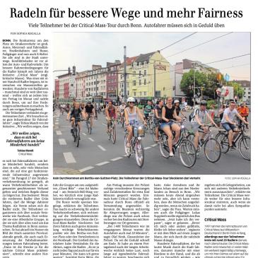 """""""Radeln für bessere Wege und mehr Fairness"""""""