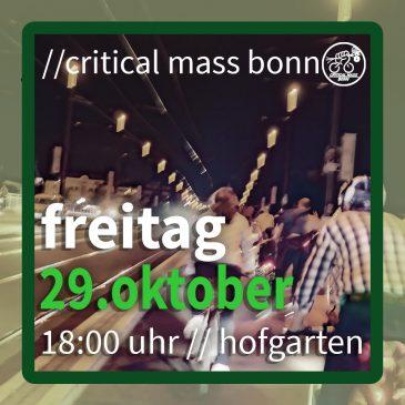 //critical mass bonn – 29. oktober 2021